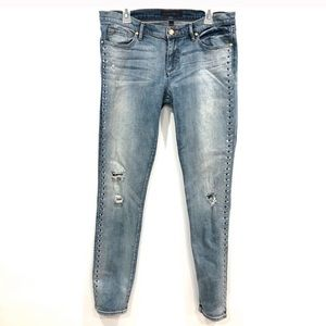 Juice Couture distress skinny jeans